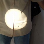 Přechod Venuše přes sluneční kotouč - projekce přes okulár